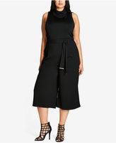 City Chic Chic Chic Plus Size Trendy Sleeveless Turtleneck Top