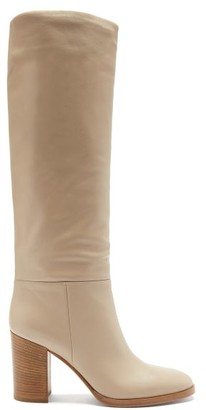Gianvito Rossi Melissa 85 Leather Knee-high Boots - Nude