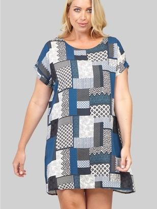 M&Co Izabel Curve patchwork shift dress