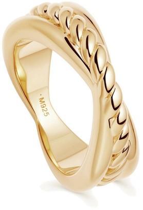 Missoma Gold Twist Radial Ring