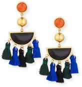 Lizzie Fortunato Fiesta Black Agate Tassel Earrings