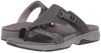 Dansko Alecia (Grey Microbuck) Women's Sandals
