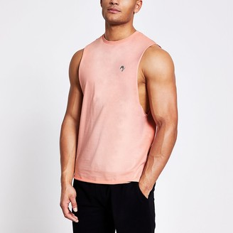 River Island Maison Riviera pink muscle fit tank top