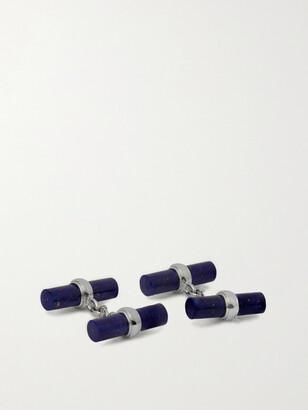 Villa 18-Karat White Gold And Lapis Lazuli Cufflinks