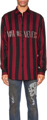 Alchemist Flynn Striped Shirt in Black & Red | FWRD