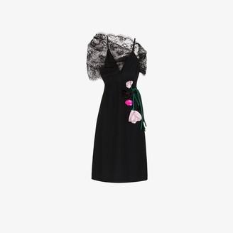 Prada Floral Lace Midi Dress