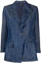 Emporio Armani single-breasted denim blazer