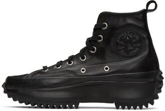 Converse Black Leather Run Star Hike High-Top Sneakers