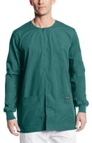 Cherokee Workwear Scrubs Men's Snap Front Warm-Up Top