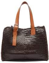 Loewe - Woven Leather Tote Bag - Mens - Brown