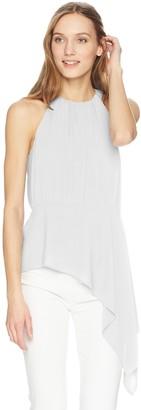 BCBGMAXAZRIA Women's Caryn Asymmetrical Drape Top