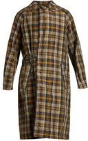 Kolor Checked Crinkle-noil Trench Coat