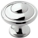 "Amerock BP53002-26 Polished Chrome Allison Discus Cabinet Hardware Knob - 1-3/16"" Diameter, 25 Pack"