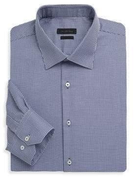 Saks Fifth Avenue Polka Dots Cotton Dress Shirt