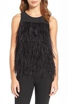 Olivia Palermo + Chelsea28 Women's Genuine Ostrich Feather Tank