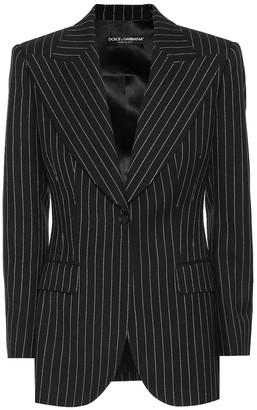 Dolce & Gabbana Pinstripe wool-blend blazer