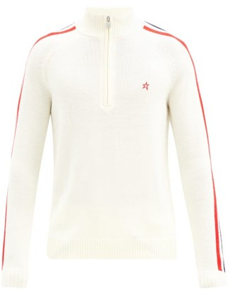 Perfect Moment La Tour Iv Half-zip Merino-wool Sweater - White