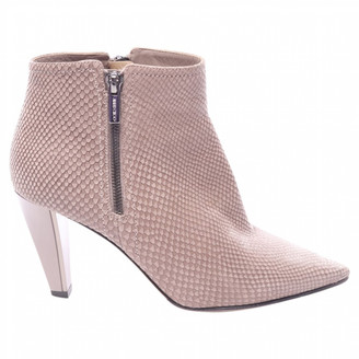 Jimmy Choo Grey Leather Ankle boots