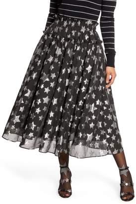 Halogen x Atlantic-Pacific Star Chiffon Midi Skirt