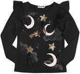 Billieblush Star Sequins Cotton Jersey T-Shirt