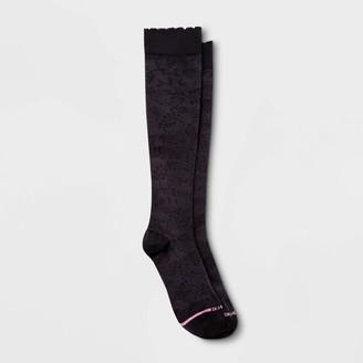 Dr. Motion Women' Grape Vine Mild Compreion Knee High ock - Black 4-10