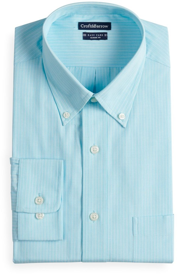 1e62a6a9ee Mens Big And Tall Blue And White Striped Shirt - ShopStyle