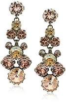 Sorrelli Satin Blush Well-Rounded Crystal Drop Earrings