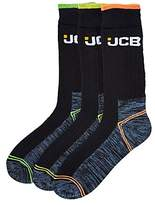 JCB Pack of 3 High Vis Boot Socks
