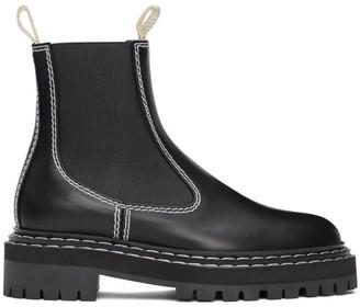 Proenza Schouler Black Combat Chelsea Boots