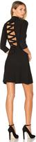 For Love & Lemons x KNITZ Simone Laced Back Sweater Dress