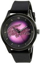 Lacoste Women's 2000918 Victoria Analog Display Japanese Quartz Black Watch