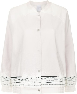 Chanel Pre-Owned glacial horizon print bomber