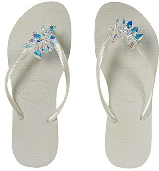 Havaianas Slim Crystal Minerals (White) Women's Shoes
