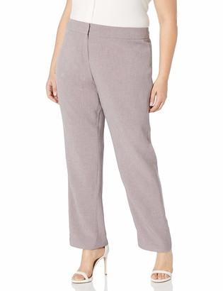 Kasper Women's Plus Size Melange Twill Pant