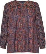 French Connection Marietta Mix Printed Cotton Smock Top
