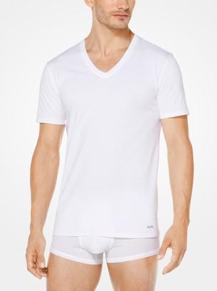 Michael Kors 3-Pack Performance Cotton V-Neck T-Shirt