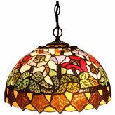 AMORA Amora Lighting AM065HL14 Tiffany Style Floral Design Hanging Lamp 2 Light