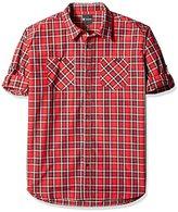 Akademiks Men's Big and Tall Spring Woven Shirt
