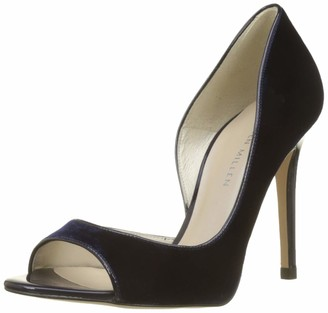 Karen Millen Fashions Limited Women's Velvet Peep-Toe Pumps Open Heels