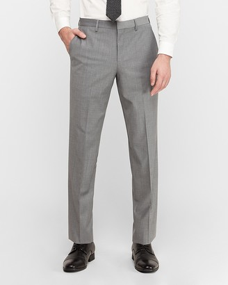 Express Classic Gray Wool-Blend Performance Stretch Suit Pant