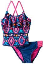 Girls 4-6x SO® Tribal Print 2-pc. Asymmetrical Tankini Swimsuit Set