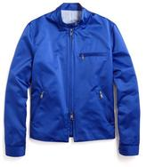 Todd Snyder Satin Racing Jacket in Royal Blue