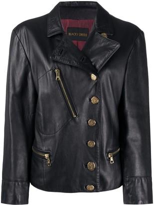 A.N.G.E.L.O. Vintage Cult 1980s Buttoned Leather Biker Jacket