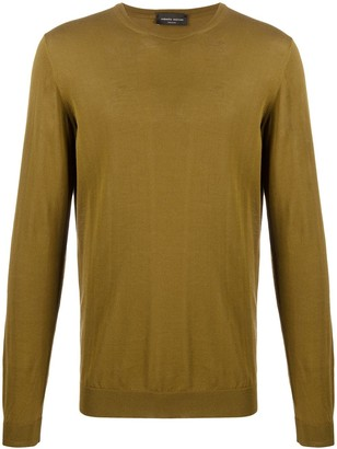Roberto Collina Knitted Crew Neck Jumper