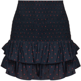 Etoile Isabel Marant Malfos polka-dot print ruffled cotton skirt