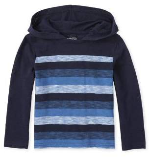 Children's Place The Toddler Boy Striped Hoodie T-Shirt