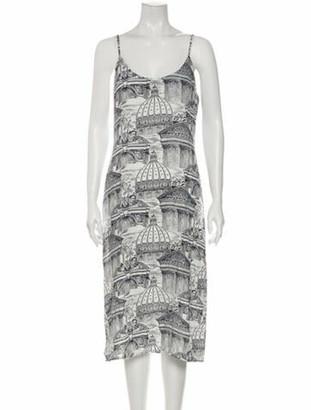 Reformation Printed Midi Length Dress w/ Tags White