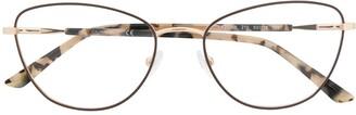 Calvin Klein Tortoiseshell Cat-Eye Glasses