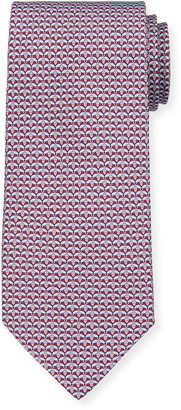 Salvatore Ferragamo Lape Bee-Print Tie, Purple