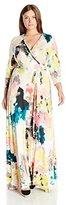 Melissa McCarthy Women's Plus Size Paint Cloud Wrap Dress